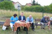 Spotkanie Burmistrza Gminy iMiasta Chęciny zmieszkańcami ul. Zelejowej wChęcinach.