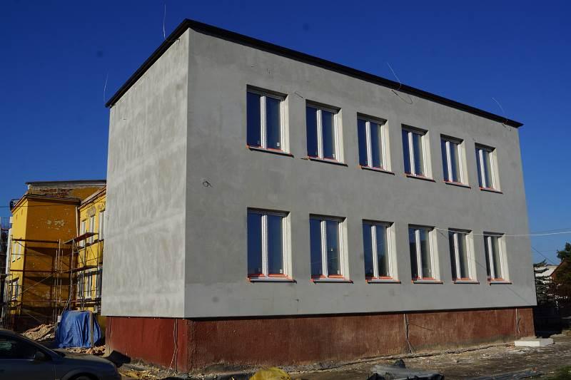 Postęp prac termomodernizacyjnych w Szkole Podstawowej w Wolicy
