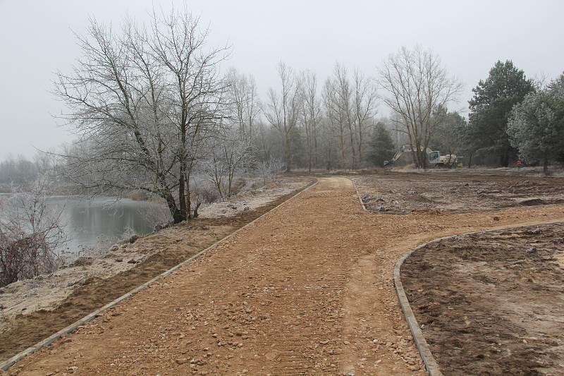 Trwają prace budowlane wokół zbiornika w Lipowicy